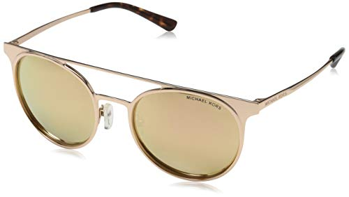 Michael Kors Damen GRAYTON 10265A 52 Sonnenbrille, Shiny Rose Gold-Tone/Liquidrosegoldmirrornew