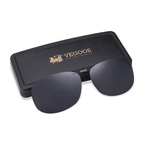 VEGOOS Sonnenbrille Aufsatz, Clip für Sonnenbrille Polarisiert Clip auf Sonnenbrille für Frauen und Männer 3026MBLJP