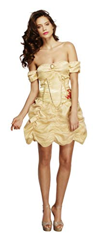 Fever, Damen Goldene Prinzessin Kostüm, Kleid, Größe: S, 20549