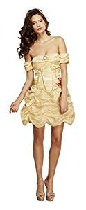 Smiffys- Disfraz Fever de Princesa Dorada, con Vestido, Color Oro, S - EU Tamaño 36-38 (Smiffy
