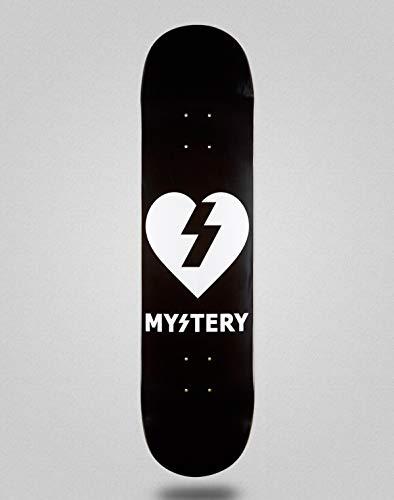 lordofbrands Monopatín Skate Skateboard Deck Mystery Mystery Heart Black 8.375