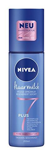 NIVEA 3er Pack Haar-Pflege-Sprühkur für feine Haarstruktur, 3 x 200 ml Sprühflasche, Haarmilch