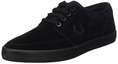 Fred Perry Stratford Suede Homme Baskets Mode Noir Noir