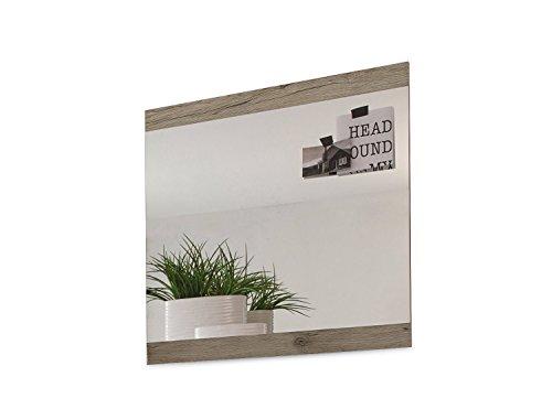 Garderobenspiegel Flurspiegel Wandspiegel | 68x70 cm | Eiche Sanremo | Dekor