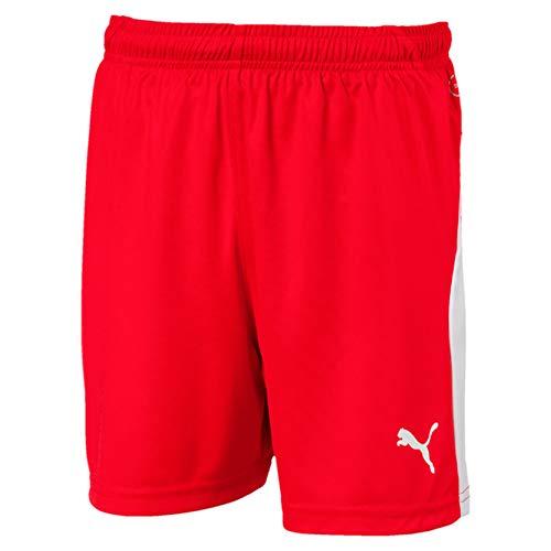 PUMA Kinder LIGA Shorts, Red White, 152