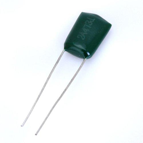 10 Stk. 47000pF 100V 2A473J grün Polyester Film Kondensator für e-Gitarre -