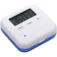 Preisvergleich für Healifty Pillendose Elektronische Digital Pillenbox Tablettenbox mit Wecker Timer Alarm 4 Fächer Lagerung Tragbar...