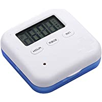 SUPVOX Digital Pill Box 4 Fächer Tablettenbox Pillenbox Pillendose mit 5 Erinnerungen (Blau) preisvergleich bei billige-tabletten.eu