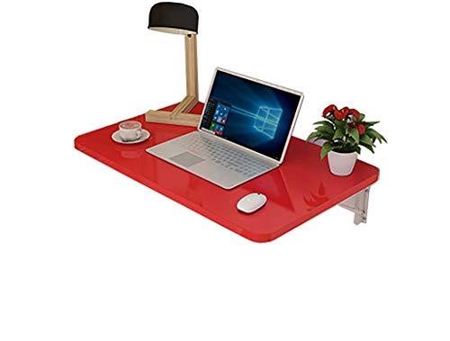 Fxm Table de salle à manger murale multi-usage, peinture rouge, feuille rouge, table de repas pliante (taille : 80x50cm)