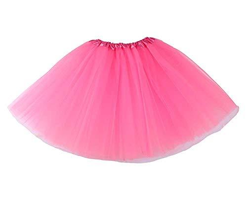 Fancy Dress Adult Kostüm Baby - Herren/Damen, Spitze, Organza, Ballett Tütü Mini Rock Layered, Rosa, one size