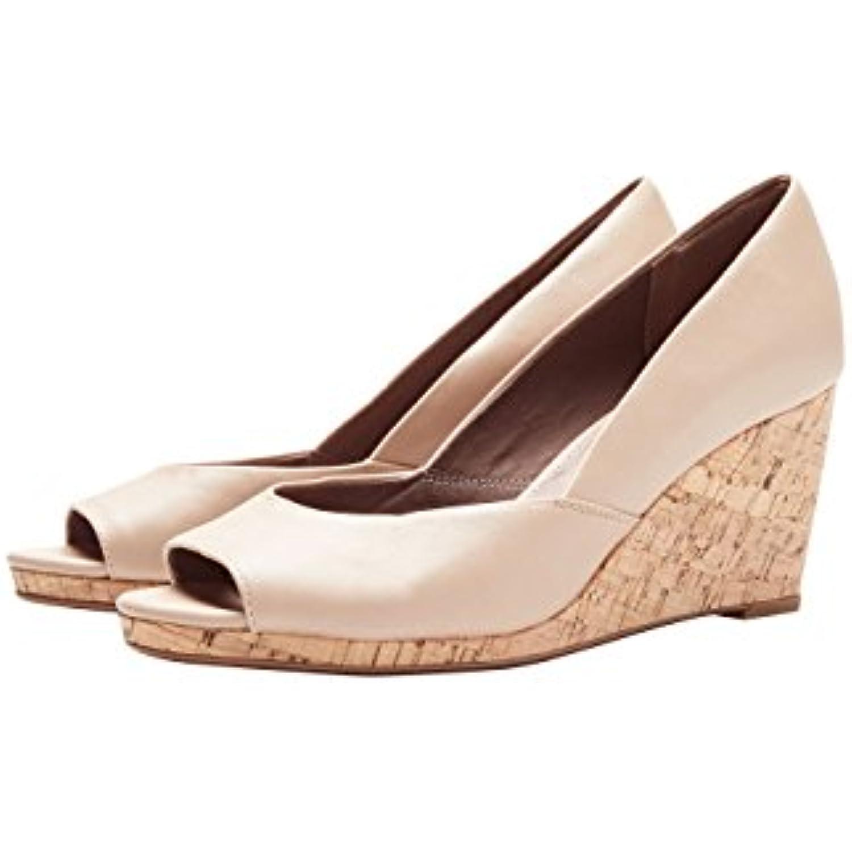 next Femme Chaussures Compensées À Bout Ouvert Et Semelle - en Liège - B07D5D8SDD - Semelle e2dbf8