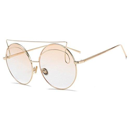 Tipo:gafas Gafas de solElementos de tipo:EyewearLentes atributo óptico:degradado,UV400,antirreflectantebastidor de aleación de Material:Lentes de policarbonato Material:Lens height:60mmLens width:60mm
