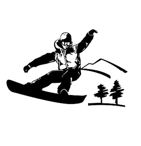 Autoaufkleber 14,8 CM * 9,5 CM Interessante Extremsportarten Skifahren Vinyl Auto Aufkleber Silhouette Decor 2 Stück