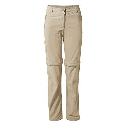 Cotton Zip-off-hose (Craghoppers NosiLife Pro II Convertible Trousers Women - Regular Version - Zipp-Off Hose mit Schutz vor Insekten)