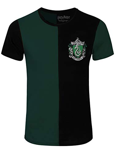 Harry Potter Herren T-Shirt Slytherin Tournament Baumwolle grün schwarz - XL