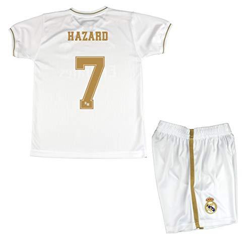 Kit Camiseta y Pantalón Infantil Primera Equipación - Real Madrid - Réplica Autorizada - Hazard 7
