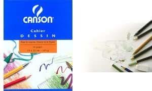 CANSON Cahier de dessin, uni, 125 g/m2, 170 x 220 mm