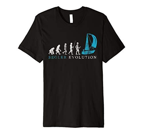 Evolution Segelschiff T-Shirt I Geschenk Segler Boot Kapitän