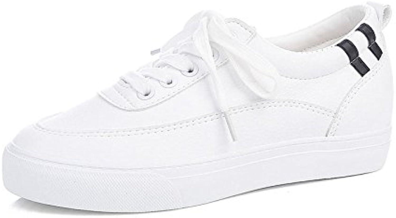 Zapatos Blancos Femeninos Parte Inferior Plana Altura Interna del Estudiante Zapatos atléticos Alpargatas Casuales...