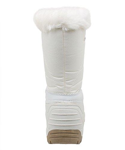 Styl Grand - 3010 - Bottes de neige Canadiennes Femme Blanc