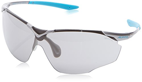 Alpina Sonnenbrille Performance SPLINTER SHIELD VL, titan-cyan, A8478127