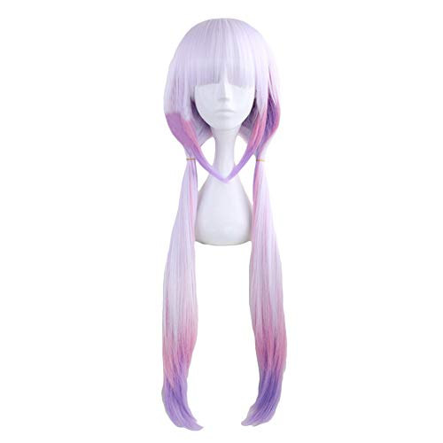 Kanna Lang Gerade Haar Anime Cosplay Perücke mit Bang Gradient Wig für Halloween Merchandise