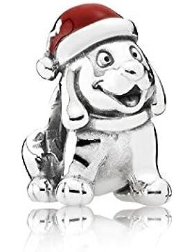 Pandora 791769EN39 Charm Weihnachtswelpe Silber
