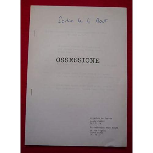 Dossier de presse de Ossessione (1942) – 21x30 cm, 14 p - Film de Luchino Visconti avec Massimo Girotti, Clara Calamai + synopsis– Bon état.