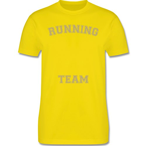 Laufsport - Running Team - Herren Premium T-Shirt Lemon Gelb