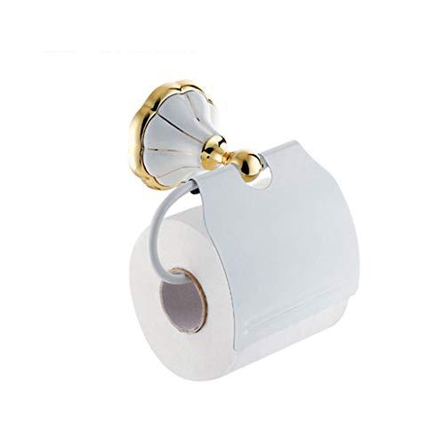 GWM Badezimmer Toilettenpapierhalter, Papierhandtuchhalter, Toilettenpapierhalter, Badezimmerzubehör, weiß lackierte Keramik