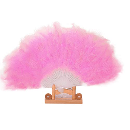 Kostüm Lady Spanien - MOTOCO Damen Faltfächer Blumenmuster Seidenfächer Handfächer Eleganter Tanzfächer Hochzeitsdekoration