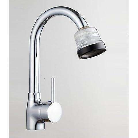 BFDGN semplice resistente e robusto rame spazzolato Purificatore dell'acqua del rubinetto cucina home Miscelatore lavandino punta del filtro cucina acqua di rubinetto filtro , high-end del purificatore di acqua + adattatore per bagno, cucina, hotel e casa
