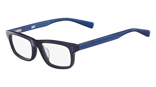Nike Unisex-Kinder Brillengestelle 5535 420 45, Navy/Racer Bluee