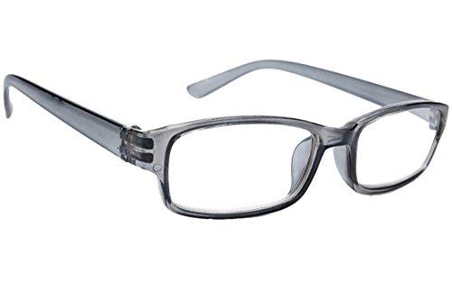 morefaz New Unisex (Damen Herren) Gray Retro Vintage Lesebrille Brille +0.50 +0.75 +1.0 +1.5 +2.0 +2.5 +3.00 +4.00 Reading Glasses (TM) (+0.75, Gray)