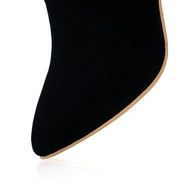LFNLYX Da donna-Stivaletti-Ufficio e lavoro / Casual / Serata e festa-Stivali-A stiletto-Finta pelle-Nero / Giallo / Rosso Red