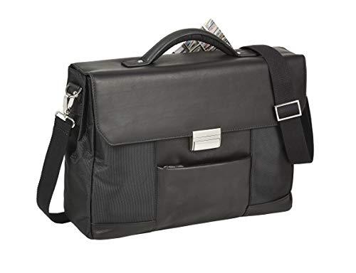 Nylon-aktentasche (Dermata echt Leder & Nylon Notebooktasche Aktentasche mit Laptopfach bis 15,6