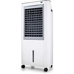 Yatek Climatiseur Rafraîchisseur d'air par Évaporation YK-M99, capacité de 10 L, puissance de 160 W, avec alarme de pénurie d'eau et dépôt d'eau amovible, avec tablette de glace
