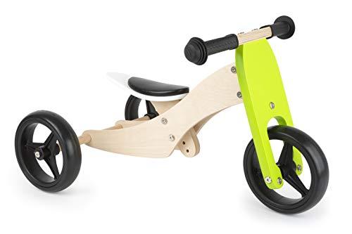 Small Foot- Trike 2 en 1 en Bois, Tricycle et draisienne en Un, entraîne Le Sens de l'équilibre Jouets, 11255, Multicolore
