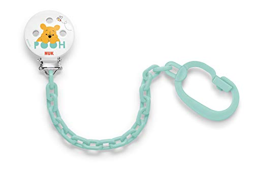 Nuk 10256256 Winnie The Pooh Catenella Porta Succhietto, Colori assortiti, 1 Pezzo