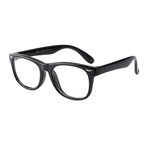 Juleya Kinder Gläser Rahmen - Silikon - Kinder Brillen Clear Lens Retro Reading Eyewear für Mädchen Jungen - 180710ETYJJ07