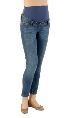 Christoff Damen Umstandsmode Hose 192/91/80 Skinny / Slim Fit (Röhre) Hoher Bund Blau (Blue)