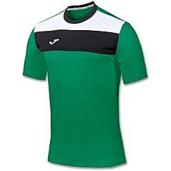 Joma Crew - Camiseta de manga corta para hombre, color verde, talla M