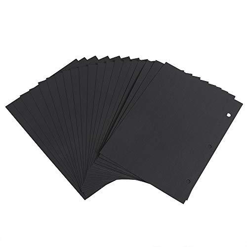 Altopbum Scrapbooking Papier Schwarz 21 x 15cm, Fotoalbum Kraftpapier Refill Seiten Nachfüllseiten für Scrapbook Album Klein 20 Blättern