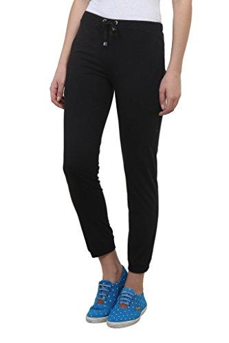Vimal-Black-Cotton-Blend-Trackpant-For-Women
