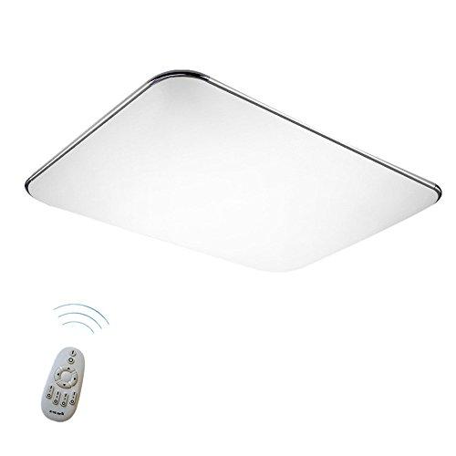 SAILUN 48W Ultra sottile LED Regolabile plafoniera moderno lampada da soffitto per soggiorno, cucina, camera, bagno, hotel - Argento