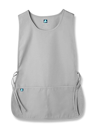 Adar Uniforms Unisex Arbeitsschürze mit Taschen für Schönheit und medizinische Berufe 702 Color SLV   Talla: Regular Slv Tasche