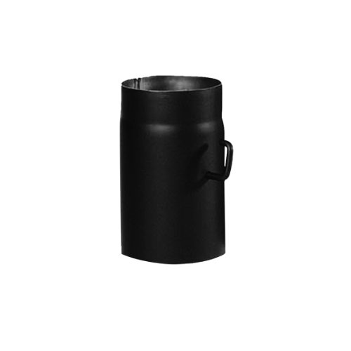 Kamino-Flam Tubo con Válvula para Chimenea, Metal, Negro, 15x3x25 cm, 2 Unidades