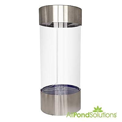 Aquarium cylindrique en acier inoxydable
