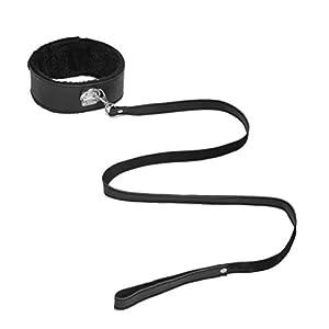 BESTOYARD Leder Halsband SM Kragen Hals Bondage Erotik unter Bett Harness Fesseln für Paare Liebhaber (schwarz)