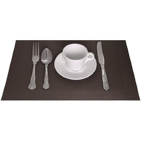 Ristorazione Apparecchio Superstore gg044PVC Marrone tavolo mat (Confezione da 4)